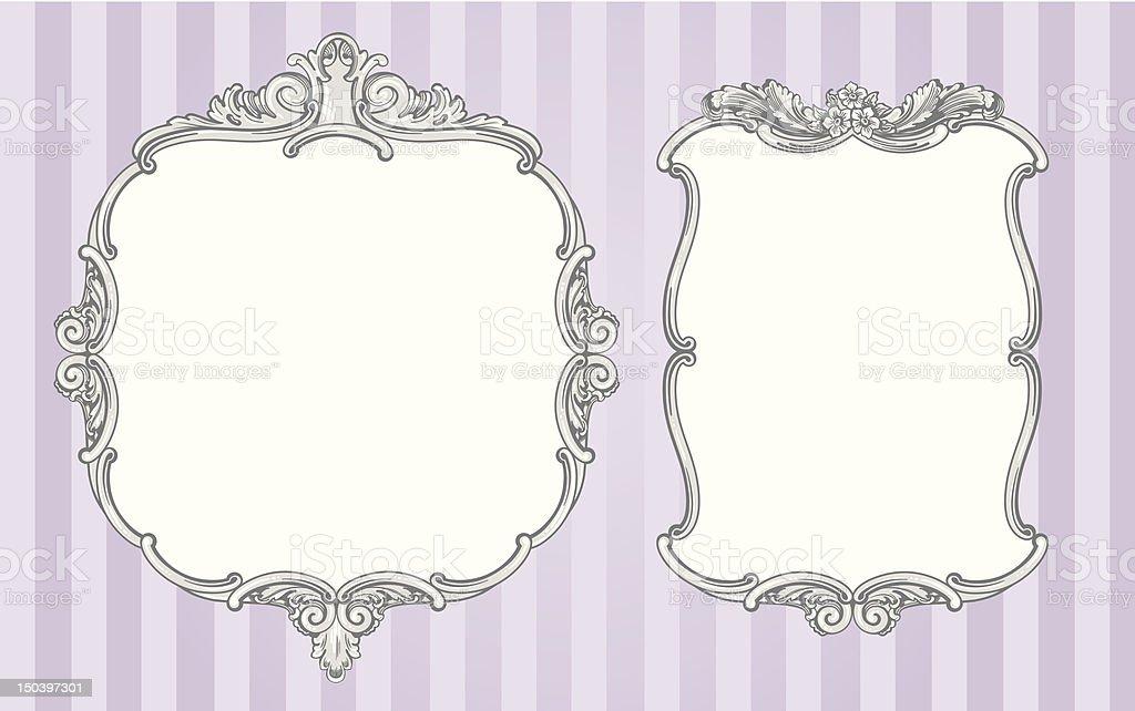 Ornate vintage frames royalty-free stock vector art