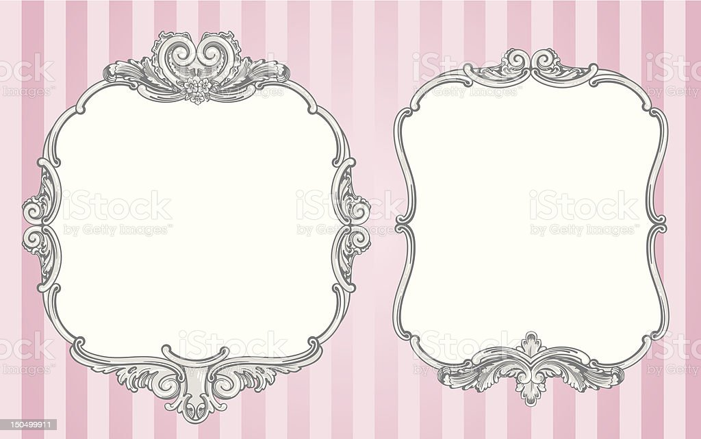 Ornate vintage frames vector art illustration