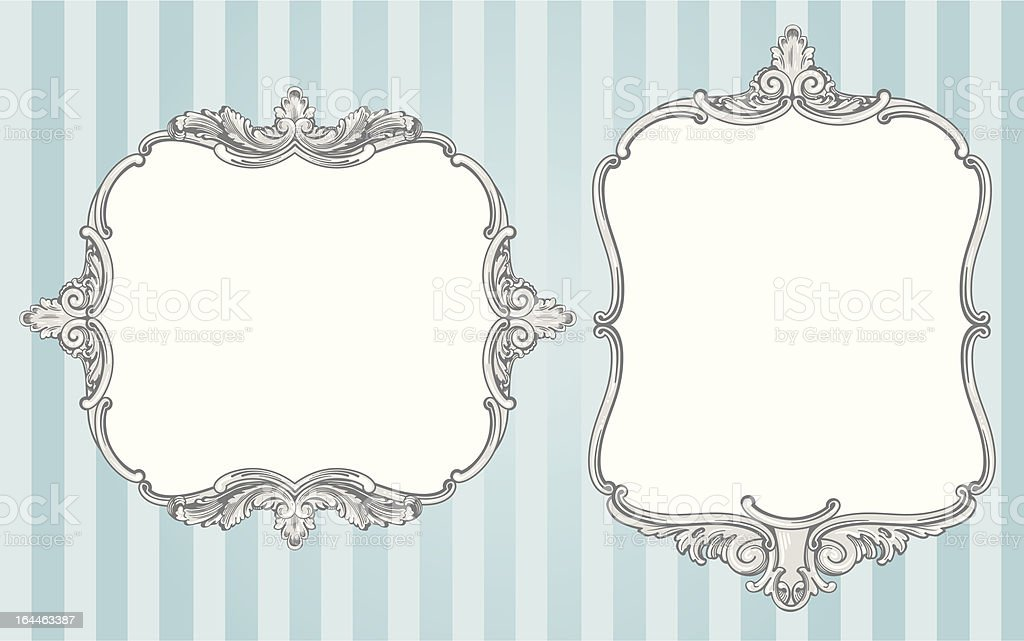 Ornate vintage frames royalty-free stock vector art