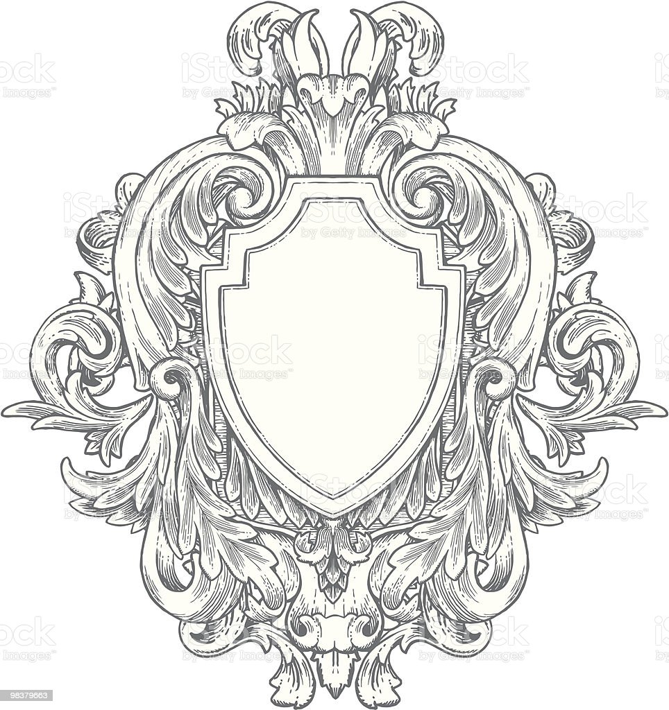 Ornate Vintage Handdrawn Heraldry Stock Vector Art