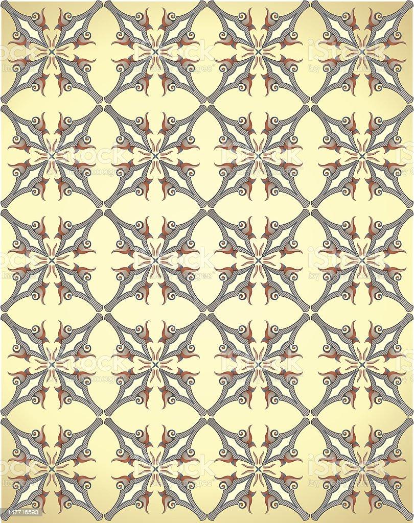 Ornate Wallpaper royalty-free stock vector art