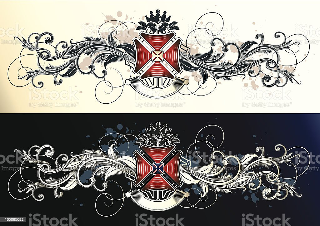 Ornated cross royalty-free stock vector art