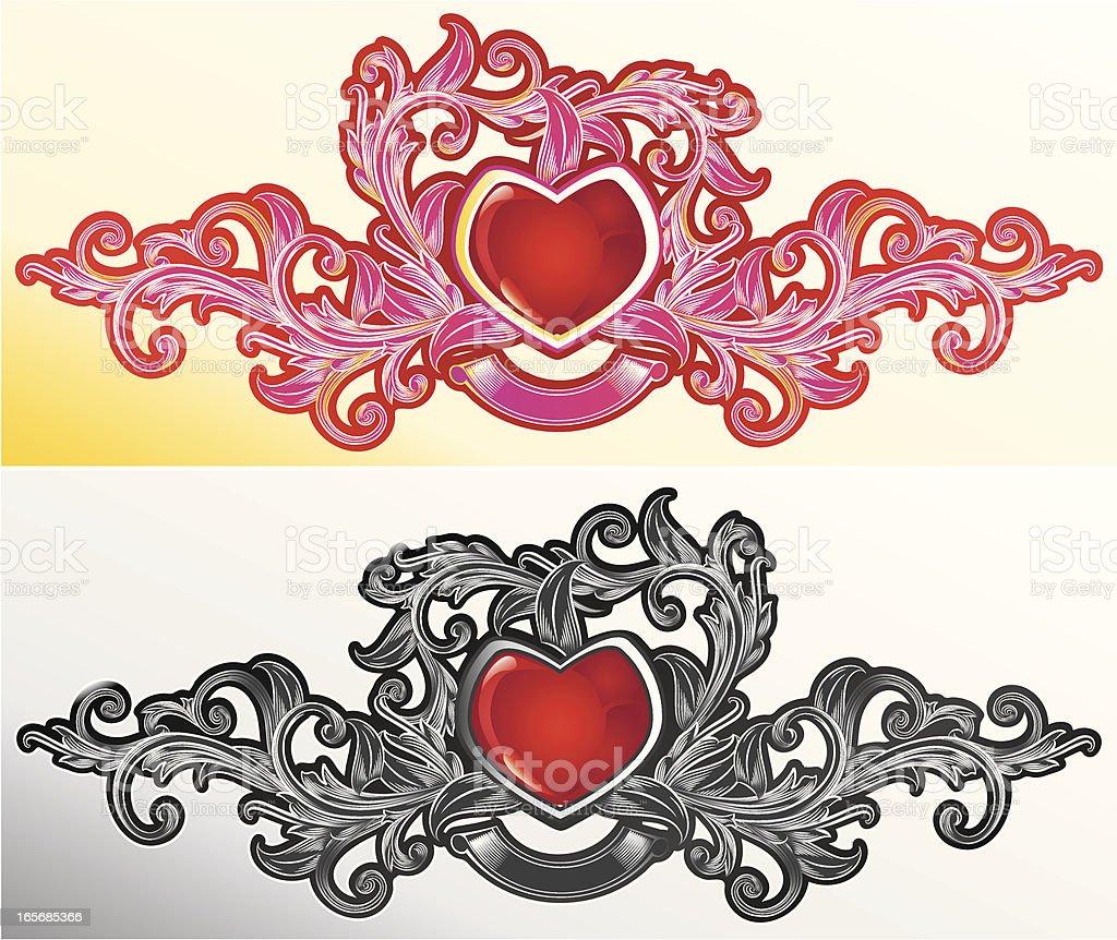 Ornated Heart royalty-free stock vector art