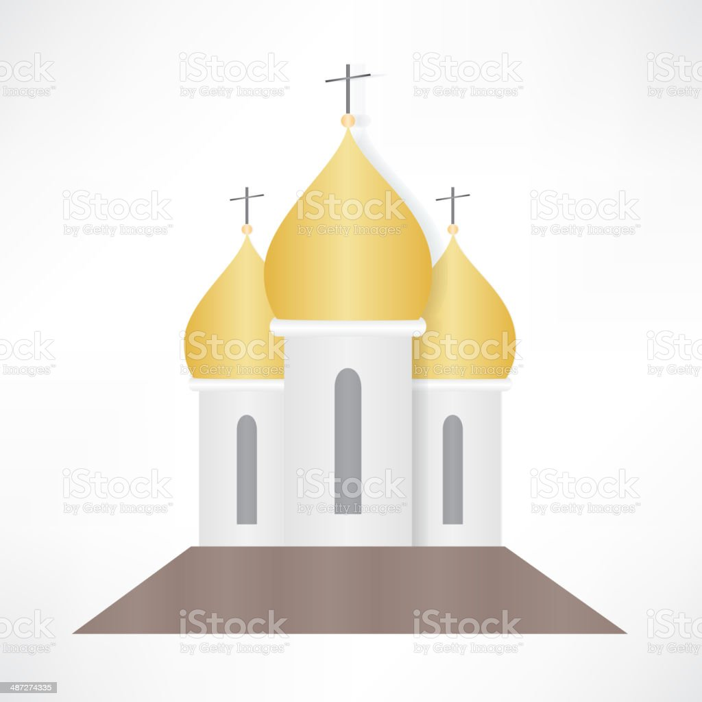 Orthodox Cathedral Church vector art illustration