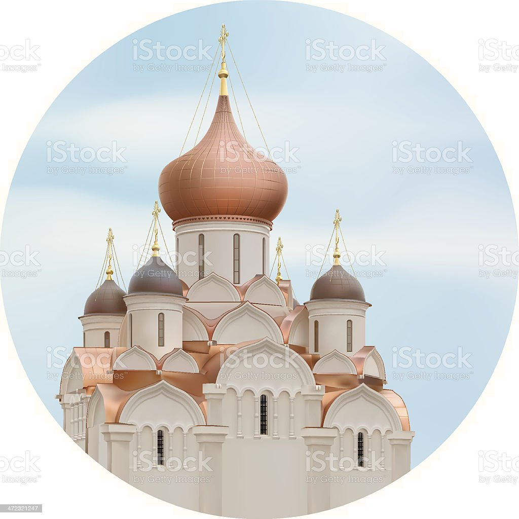 Orthodox Cathedral royalty-free stock vector art