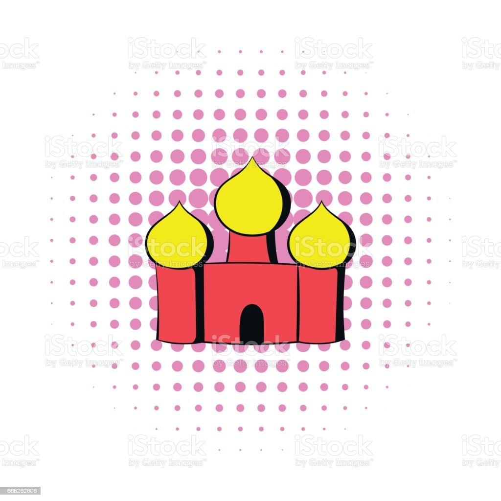 Orthodox Church icon in comics style vector art illustration