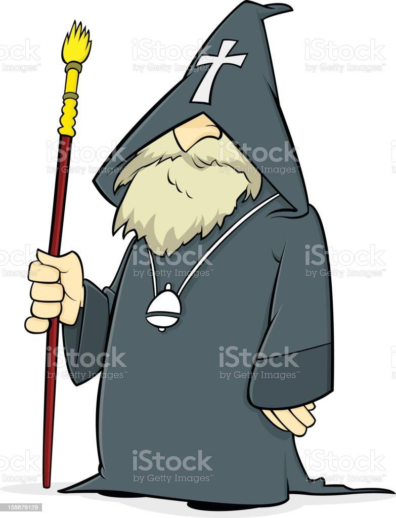 Orthodox Priest vector art illustration