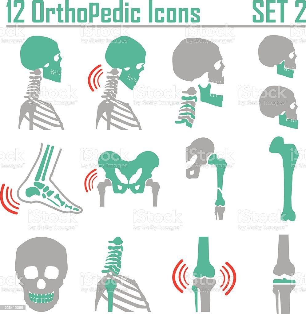 Orthopedic and spine symbol Set 2 vector art illustration