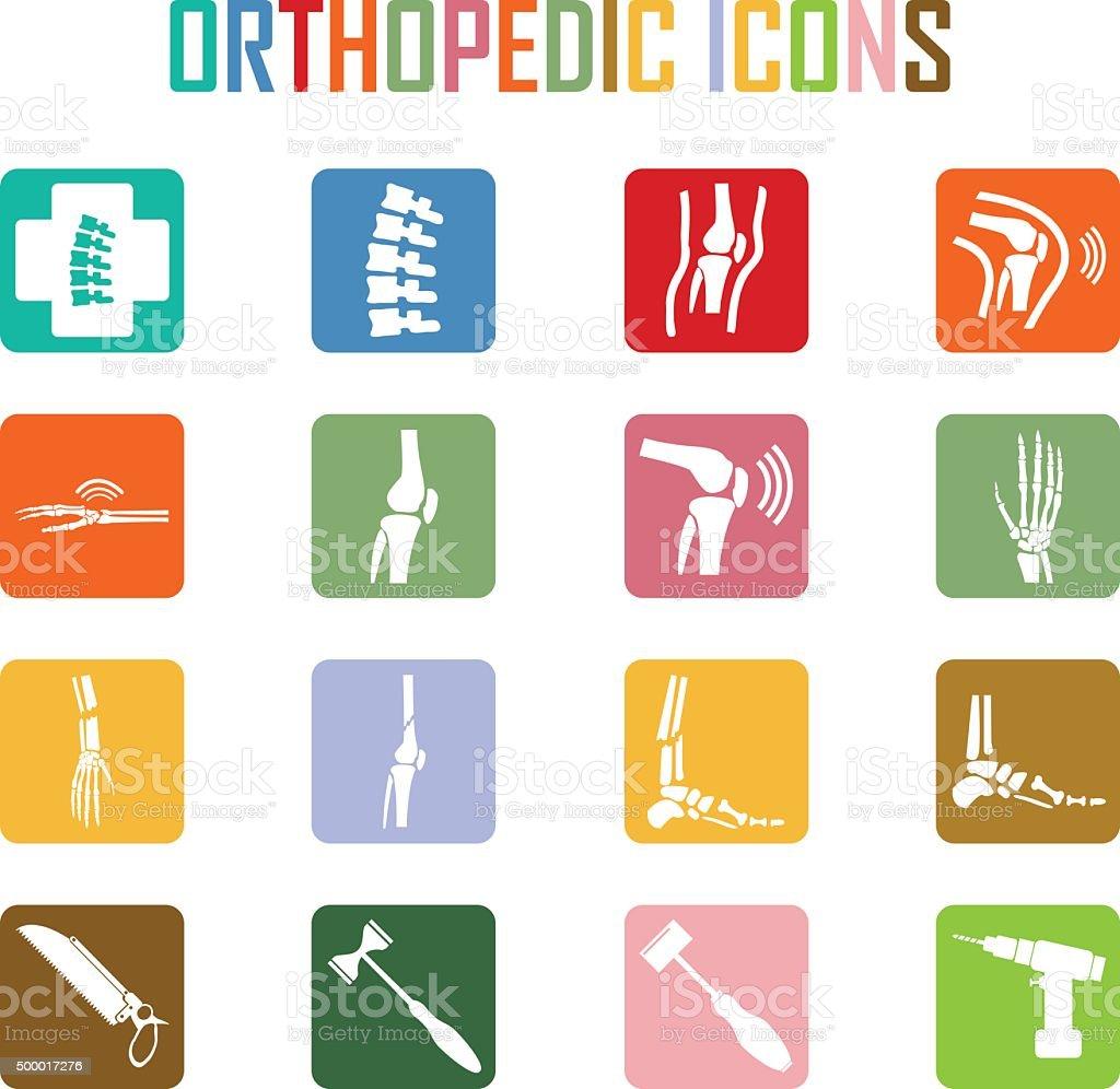 Orthopedic and spine symbol - vector illustration, Collection Hu vector art illustration