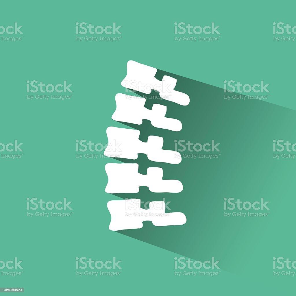 Orthopedic and spine symbol - vector illustration, vector art illustration