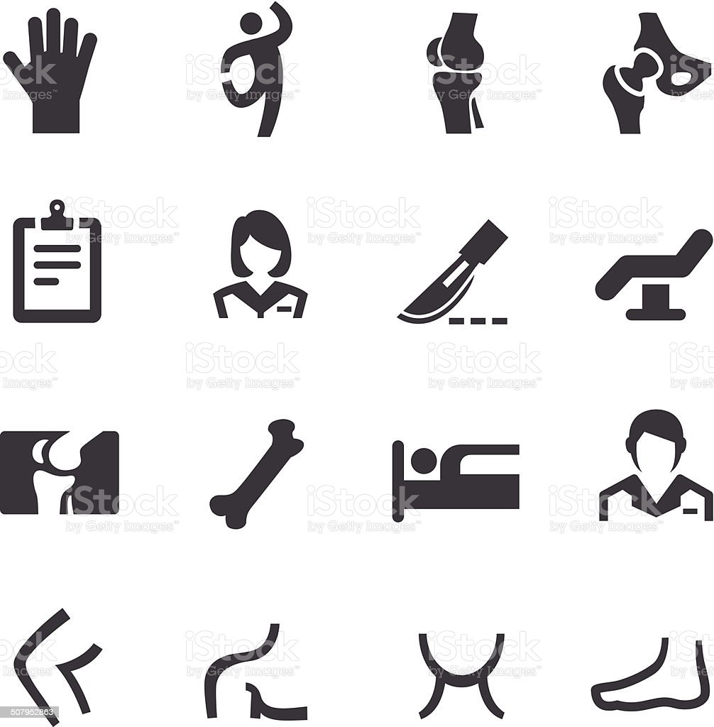 Orthopedic Icons - Acme Series vector art illustration