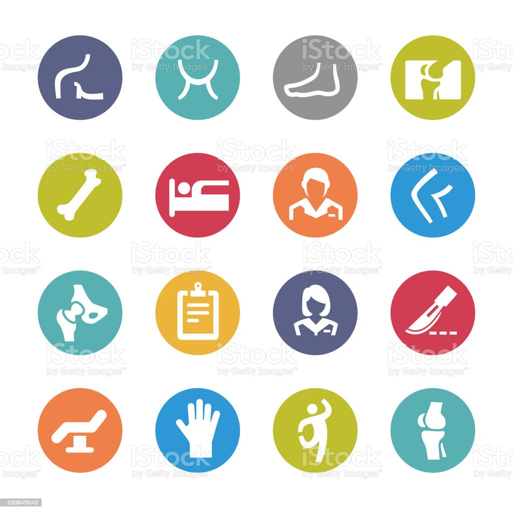Orthopedic Icons - Circle Series vector art illustration