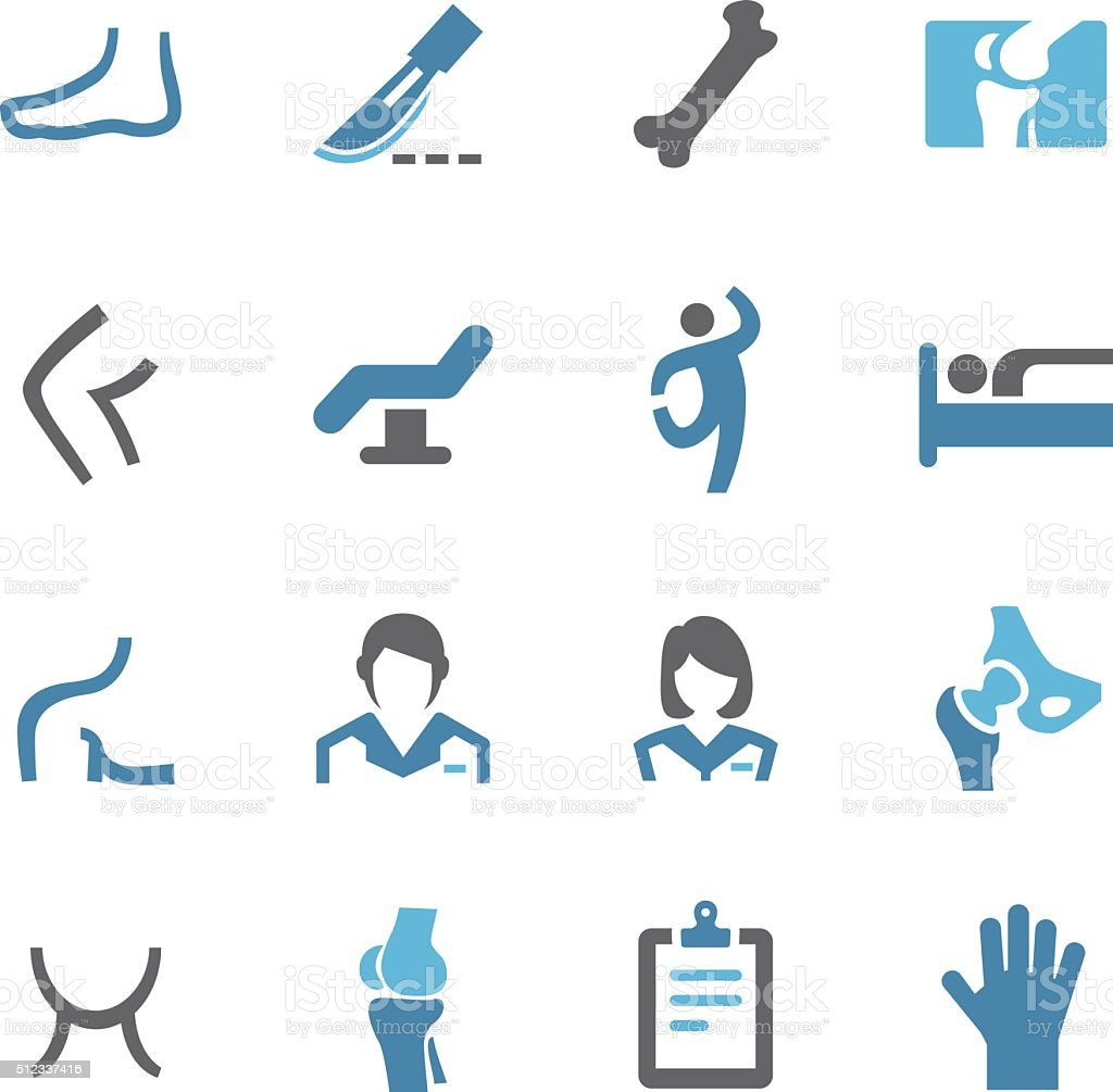 Orthopedic Icons - Conc Series vector art illustration