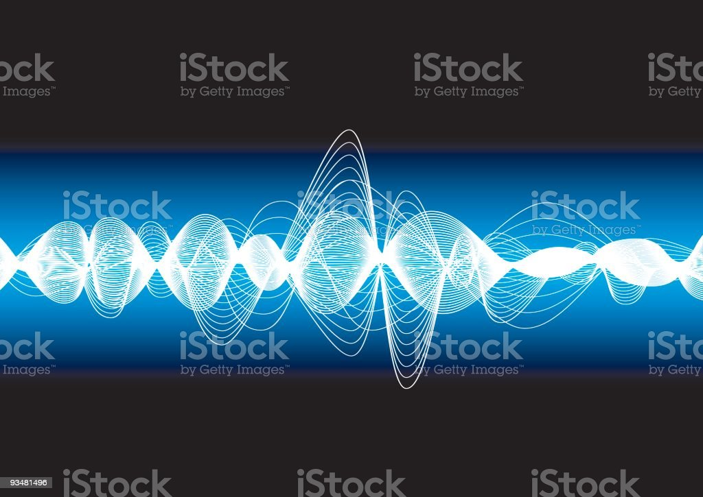 Oscillation vector art illustration