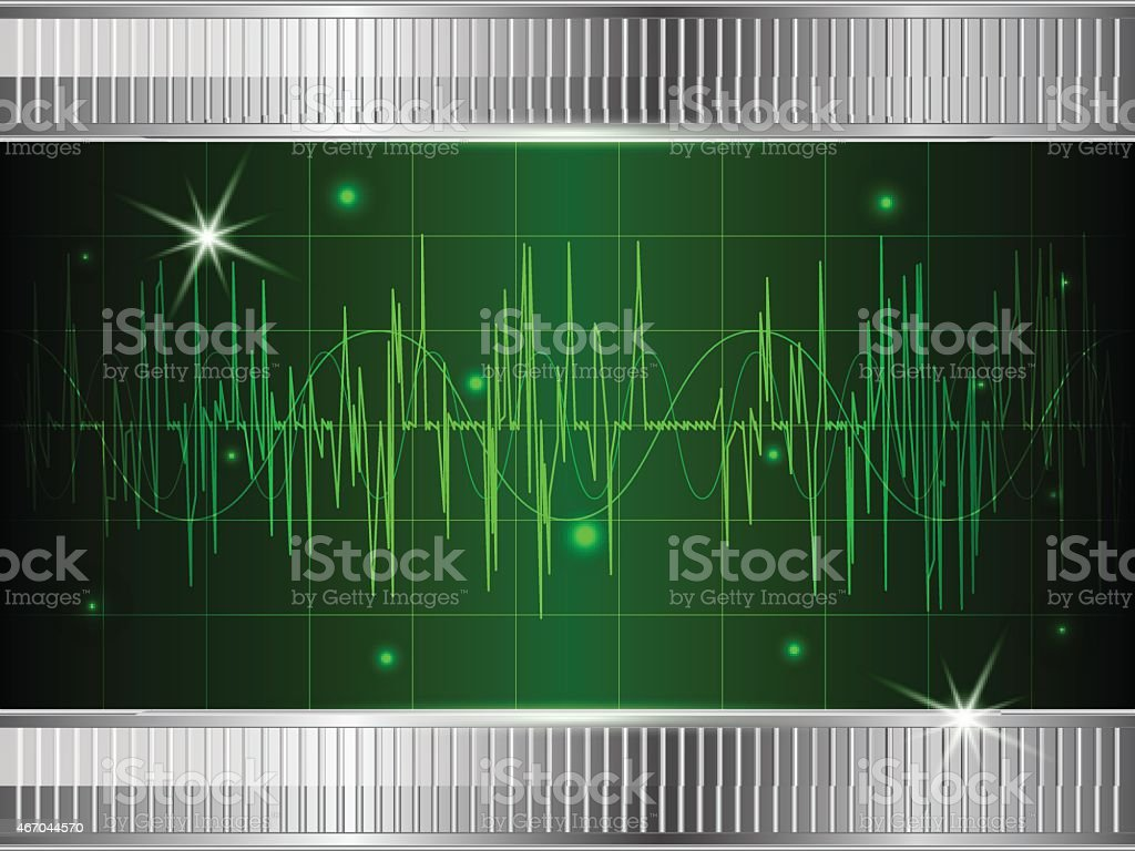 Oscilloscope background vector art illustration