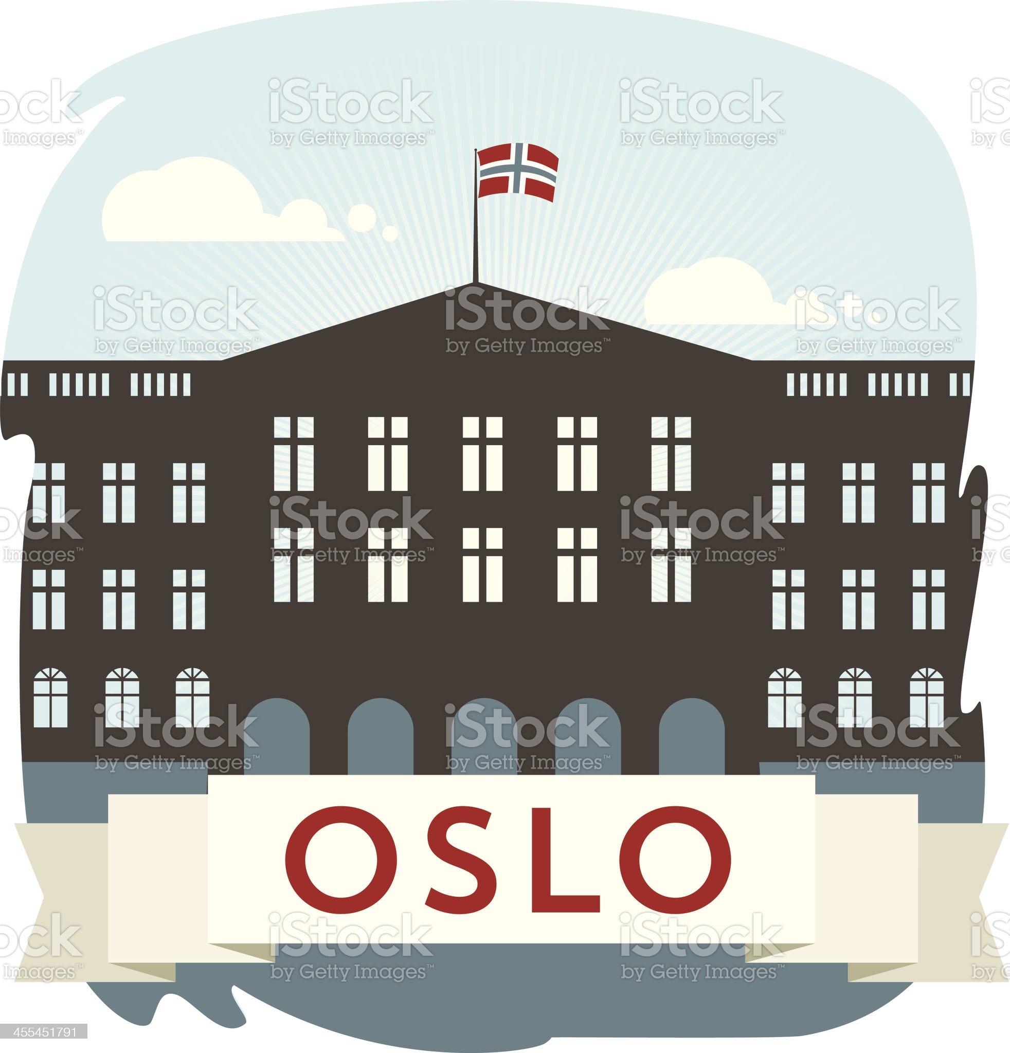 Oslo Castle royalty-free stock vector art