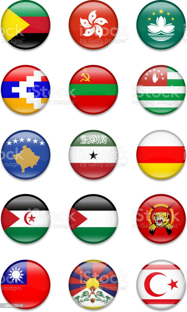 Other Countries ( unrecognized) Flag collection - Illustration vector art illustration