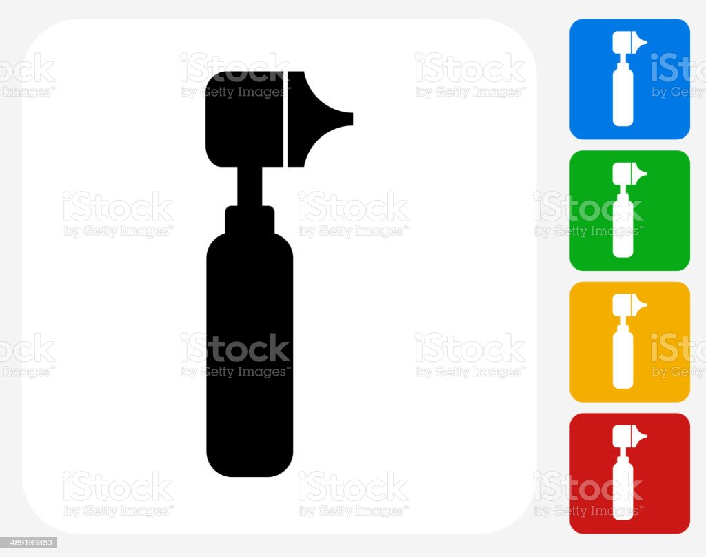 Otoscope Icon Flat Graphic Design vector art illustration