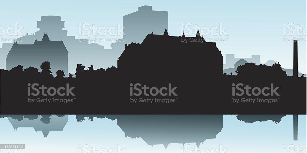 Ottawa Riverfront royalty-free stock vector art