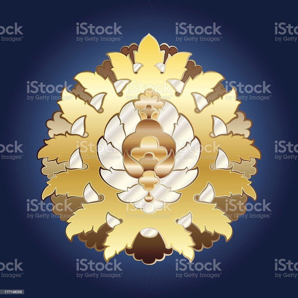 Ottoman Floral Motif royalty-free stock vector art