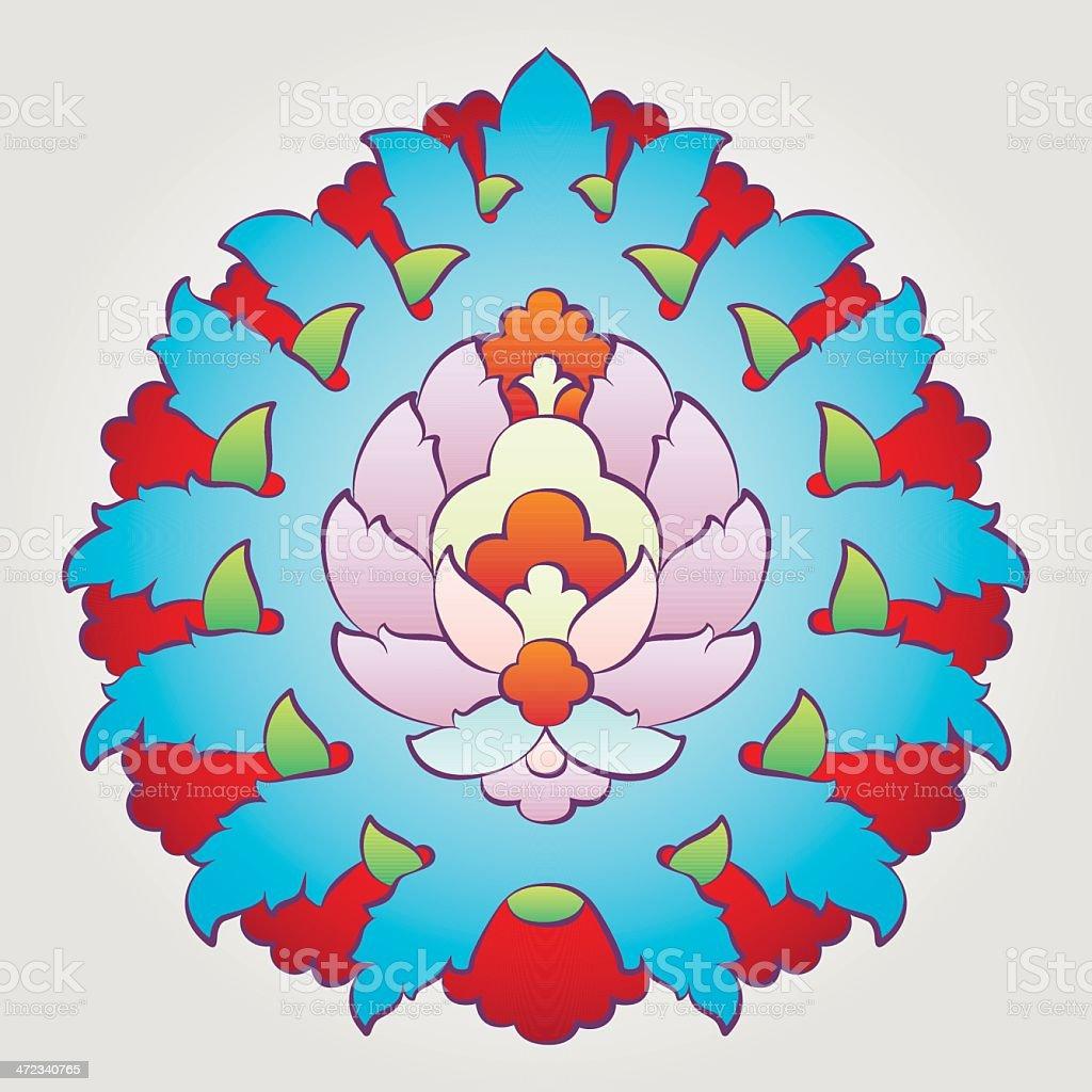 Ottoman Floral Motif vector art illustration