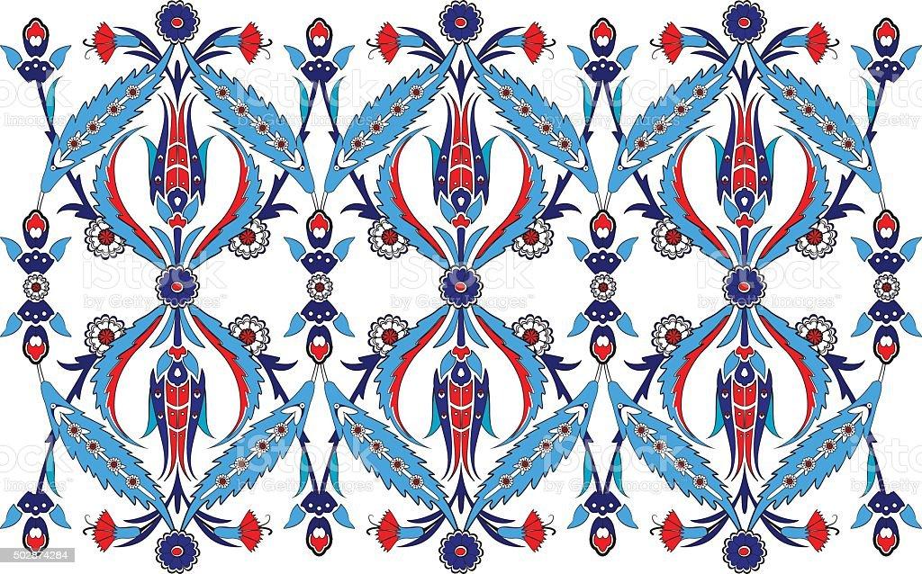 Turkish Design ottoman turkish design pattern vector stock vector art 502874284
