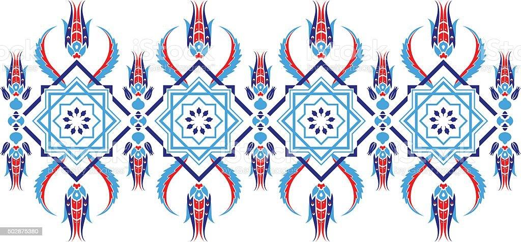 Turkish Design ottoman turkish design pattern vector stock vector art 502875380