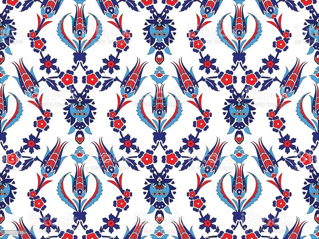 Turkish Design ottoman turkish design pattern vector stock vector art 503331838