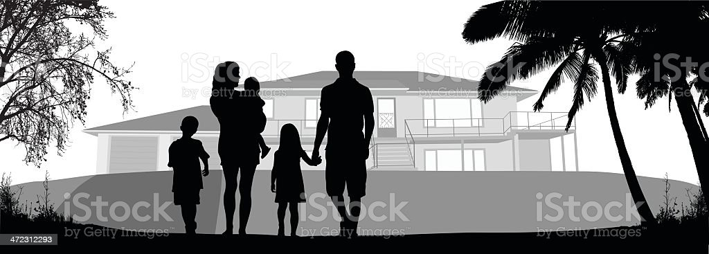 Our House royalty-free stock vector art