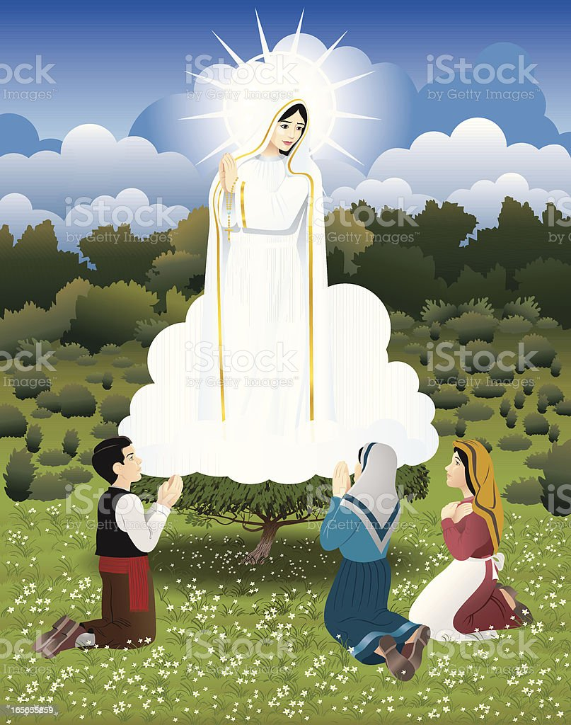 Our Lady of Fatima royalty-free stock vector art