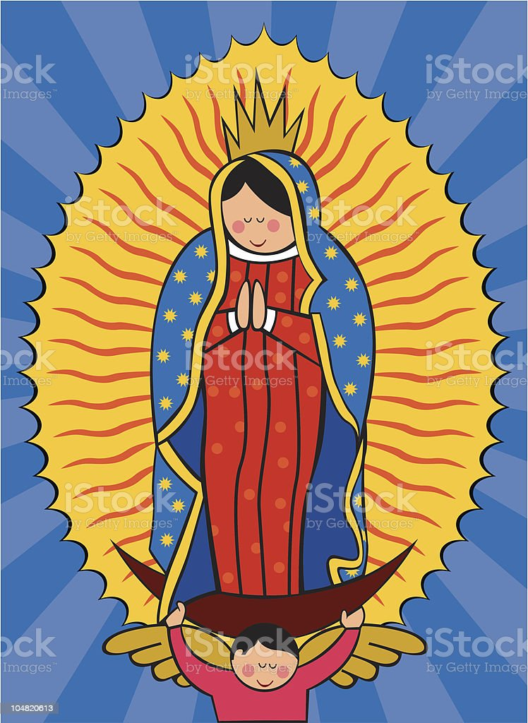 Our Lady of Guadalupe Virgin vector art illustration