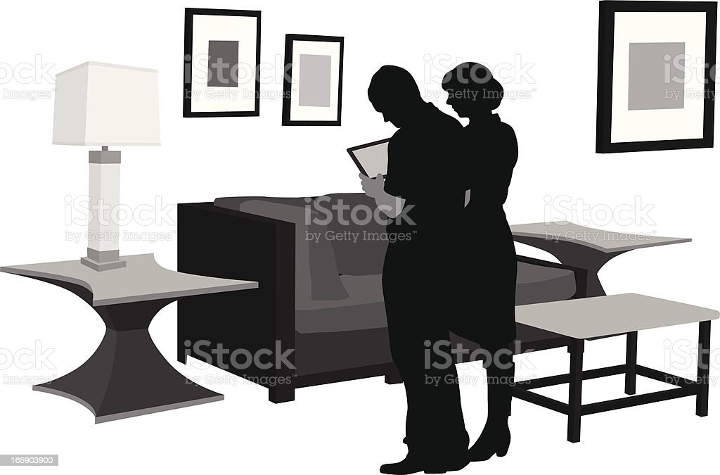 Our Place Vector Silhouette royalty-free stock vector art