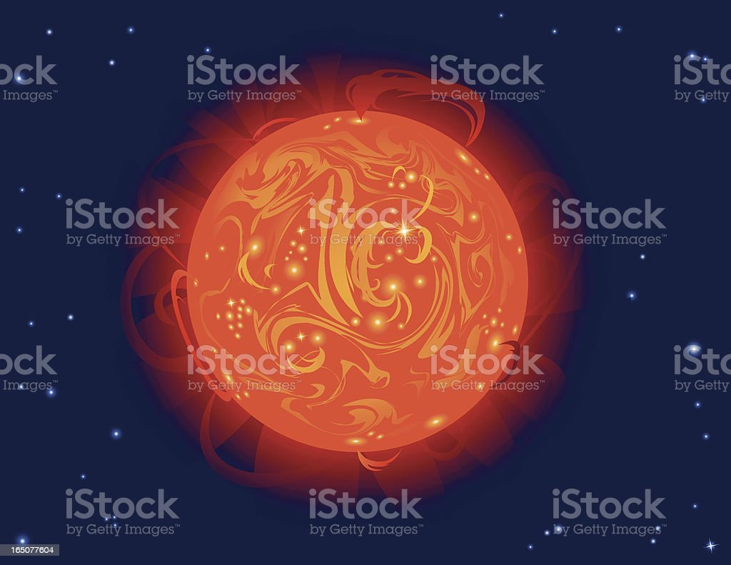 Our Star, the Sun royalty-free stock vector art