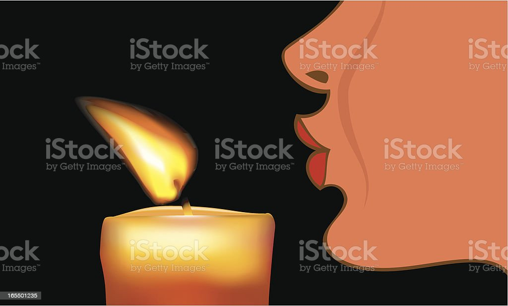 Out Brief Candle vector art illustration