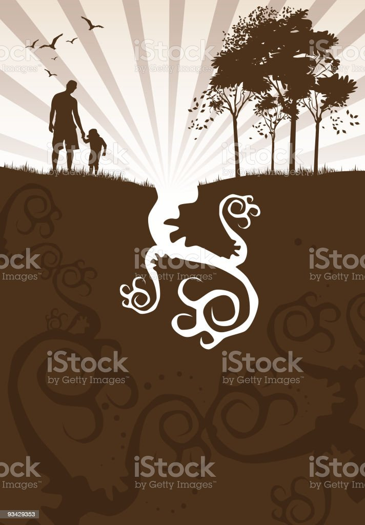 Out in Nature vector art illustration