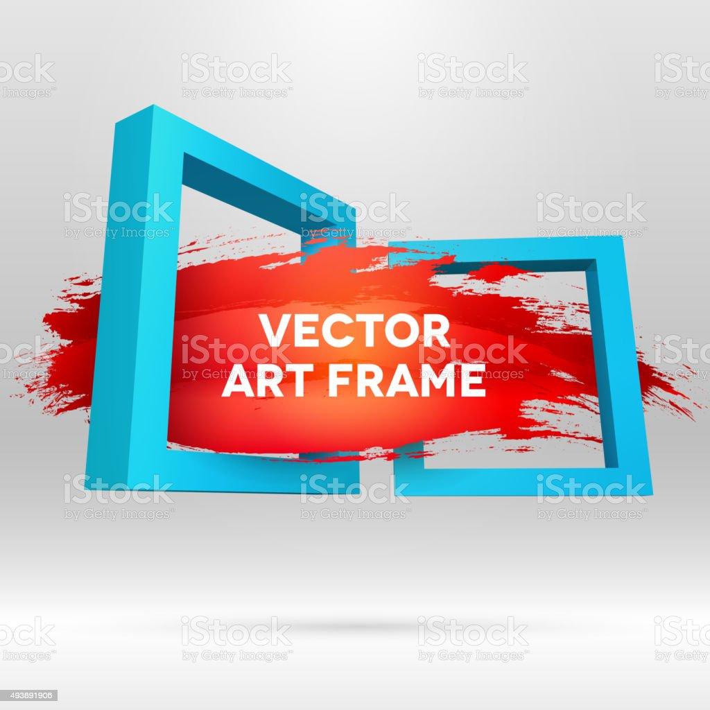 Out of frame brush stroke vector art illustration