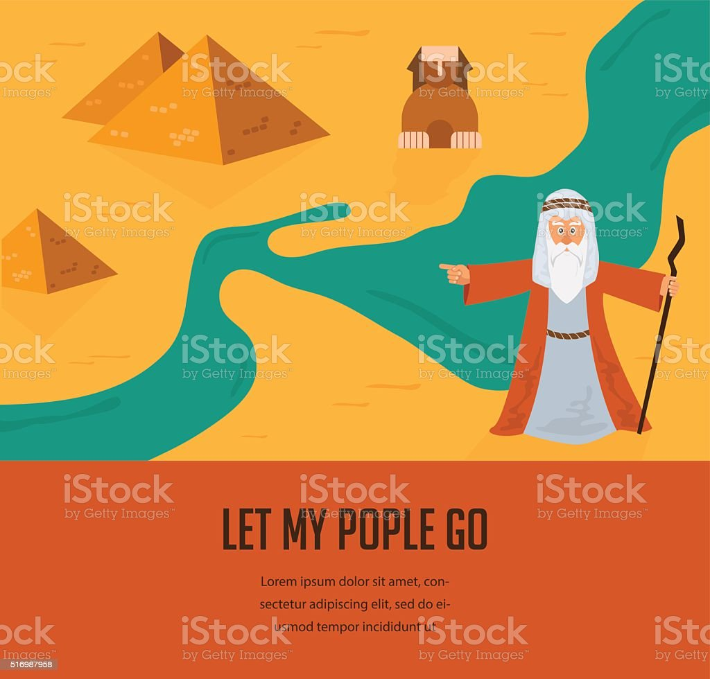 out of the Jews from Egypt. vector and illustration vector art illustration