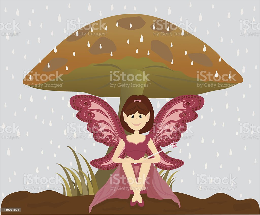 Out of the Rain vector art illustration