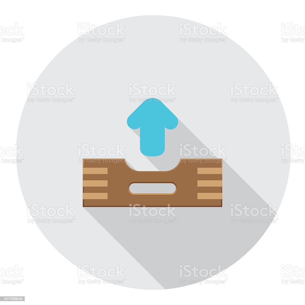 Outbox Files FLat Icon vector art illustration