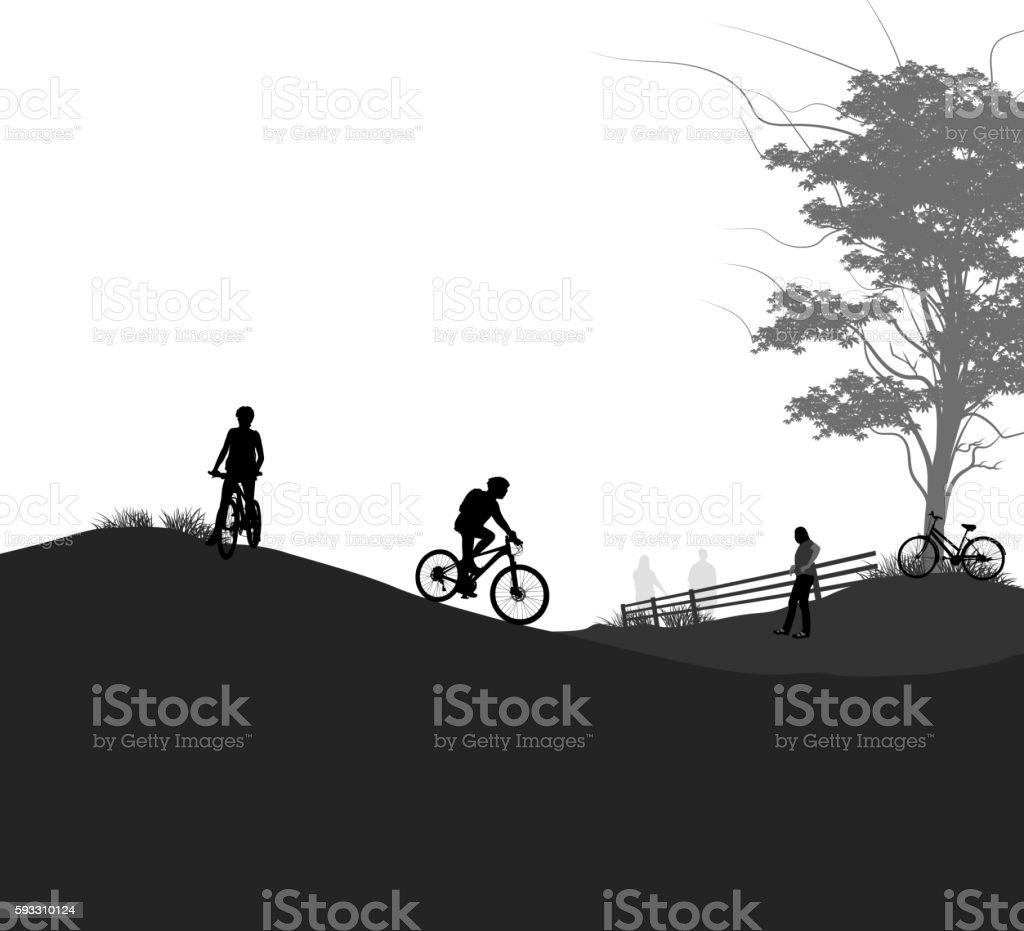 Outdoor activities vector art illustration