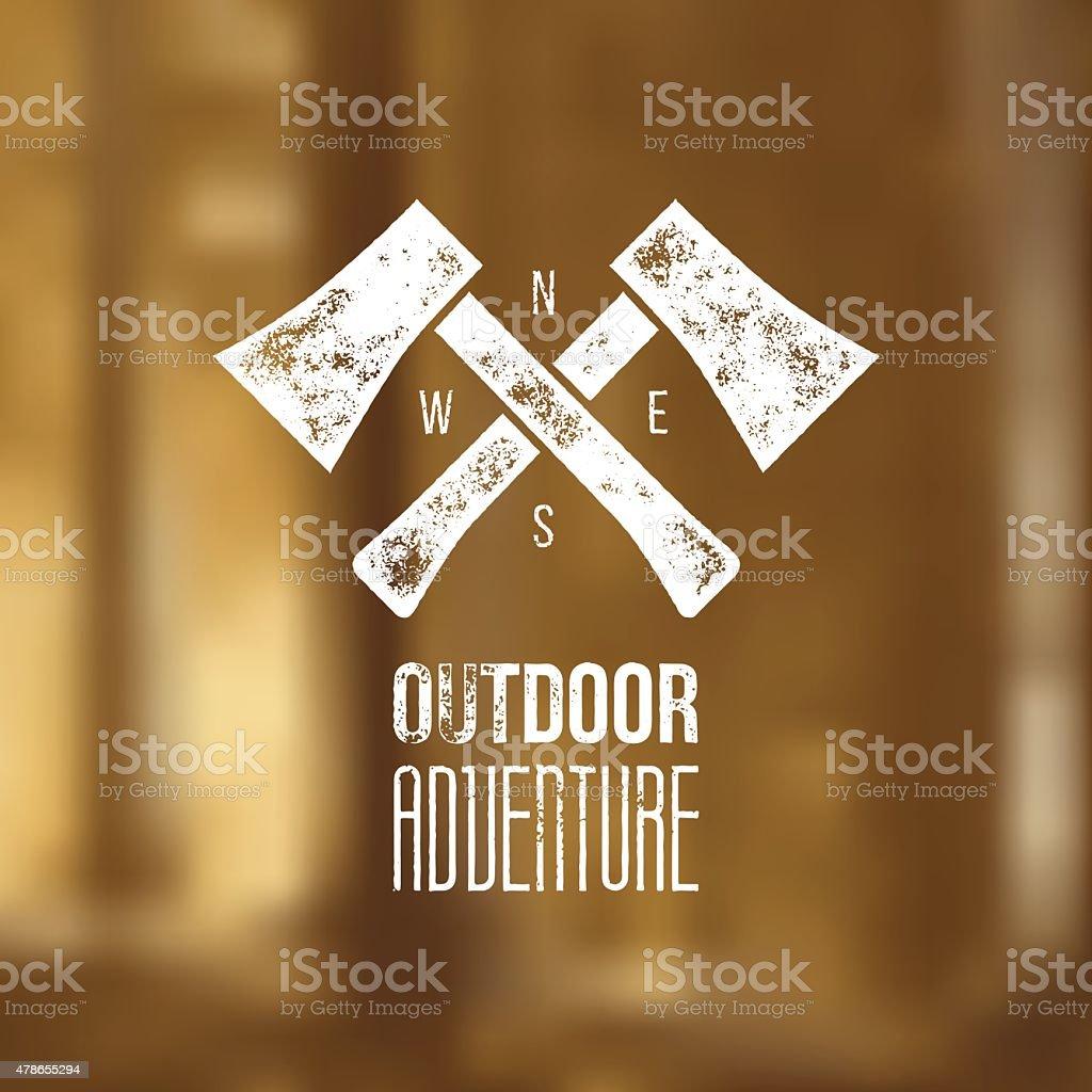 Outdoor adventure t-shirt logo design - vector illustration vector art illustration