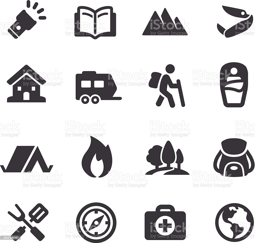 Outdoor and Camping Icons - Acme Series vector art illustration