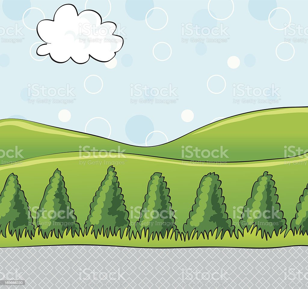 Outdoor background royalty-free stock vector art