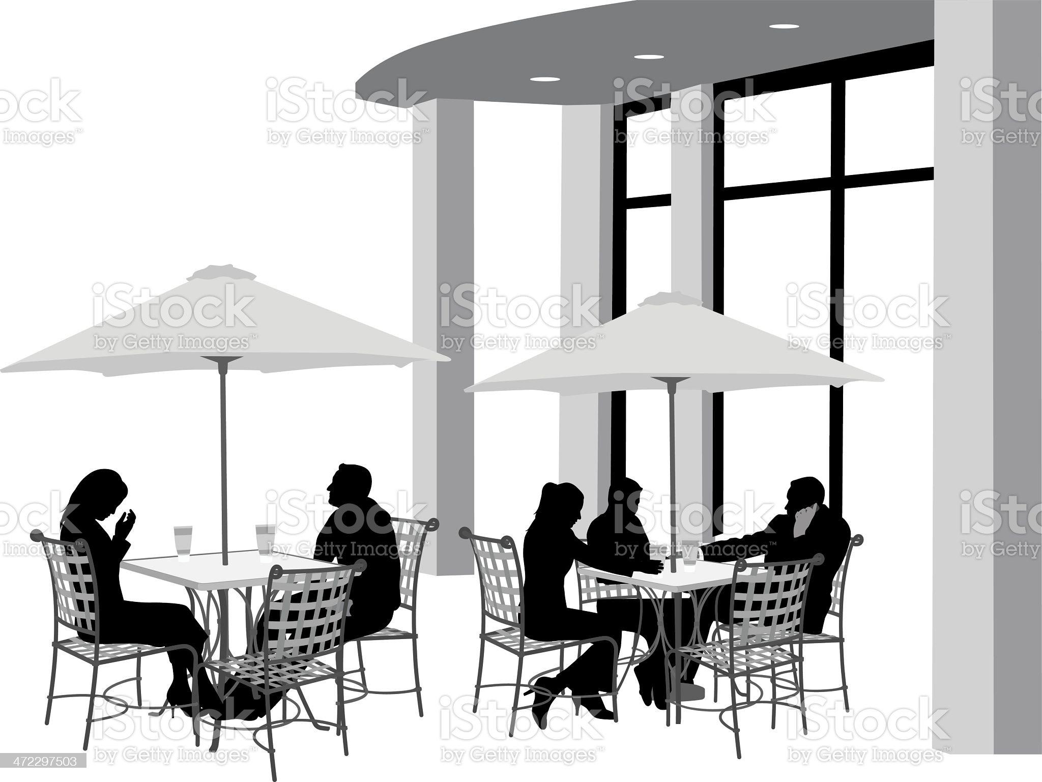 Outdoor Cafe royalty-free stock vector art