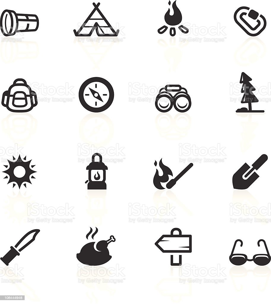 Outdoor & Camp Icons - minimo series vector art illustration