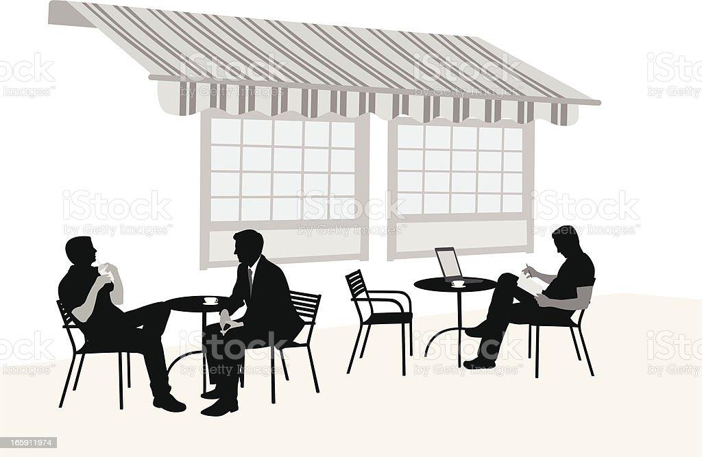 Outdoor Coffee Vector Silhouette royalty-free stock vector art