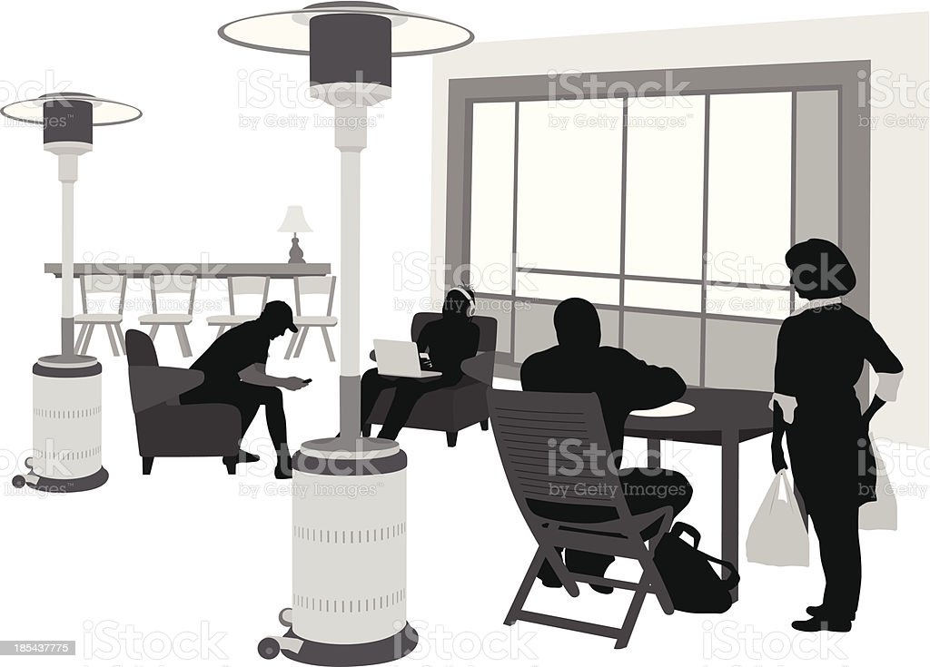 Outdoor Heating vector art illustration