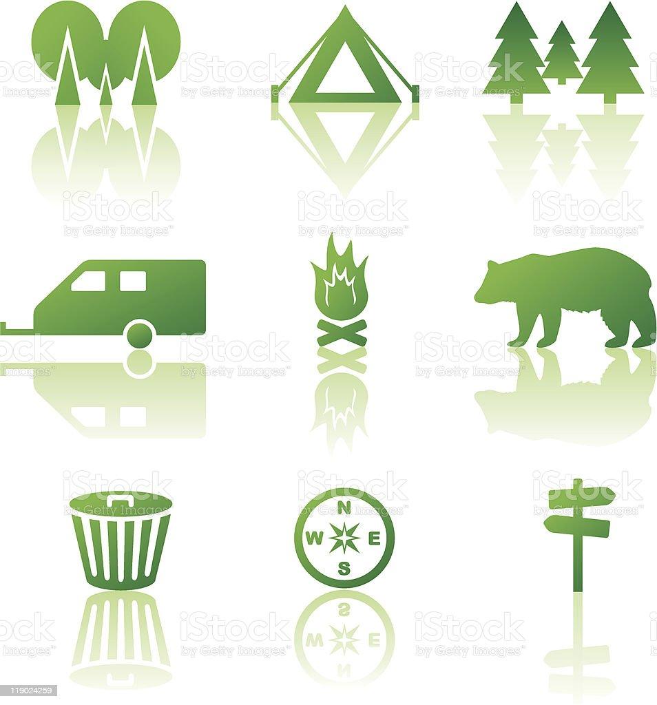 Outdoor leisure icon set vector art illustration