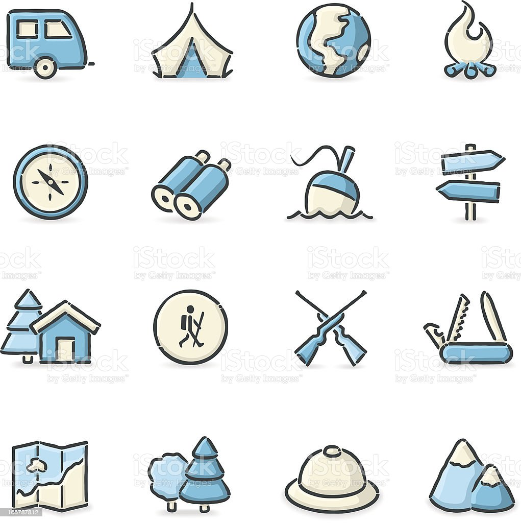 Outdoor Life Icons vector art illustration