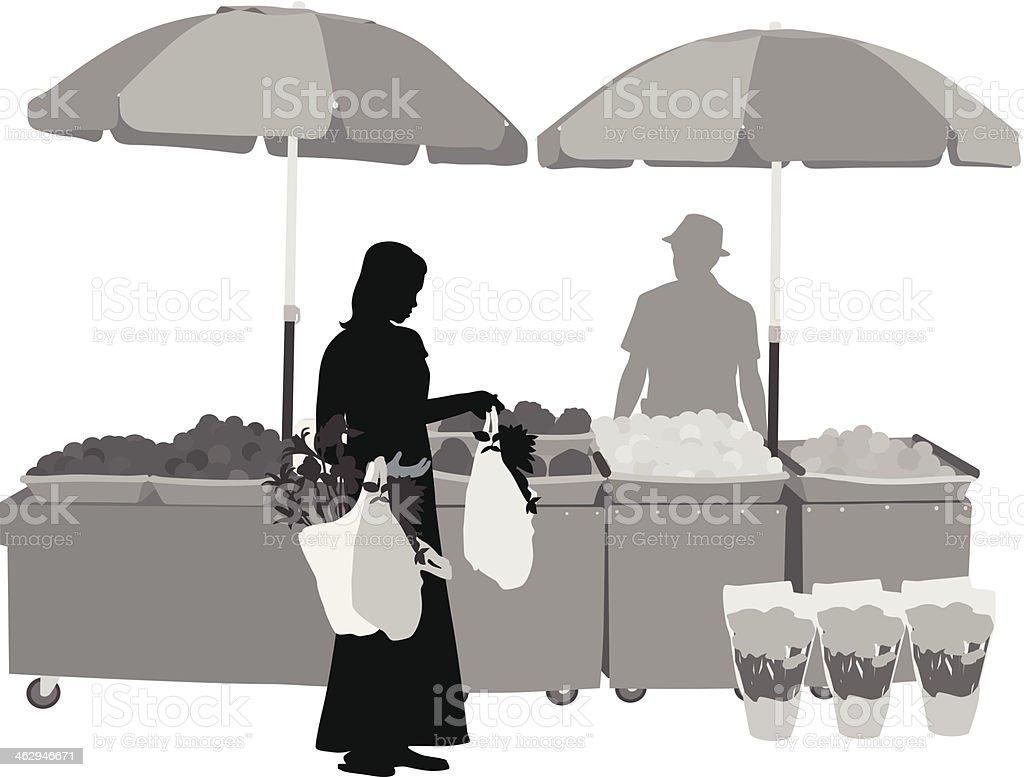 Outdoor Market vector art illustration